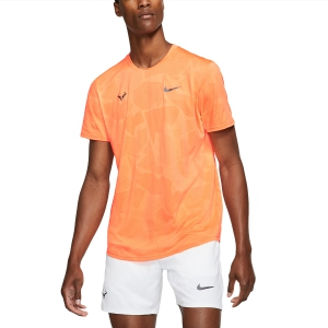 Men's Tennis Shirts Nike Aeroreact Rafa TShirt  Orange Pulse/Gridiron CU7916892