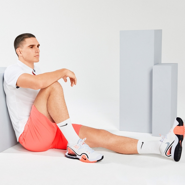 Nike Tech Challenge 20 - White/Wolf Grey/Hot Lava/Black