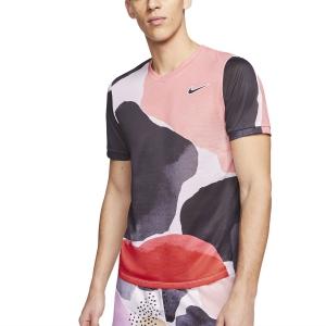 Men's Tennis Shirts Nike Challenger Print TShirt  Gridiron/White/Off Noir BV0787015