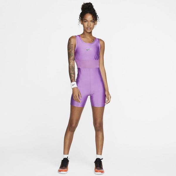 Nike Court Body Bodysuit - Purple Nebula/Off Noir