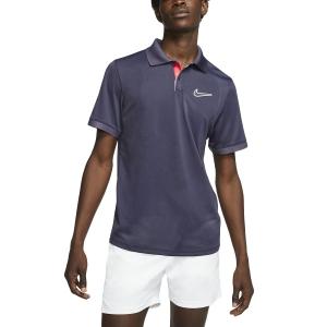 Men's Tennis Polo Nike Court Breathe Advantage Polo  Gridiron/Off Noir BV0780015