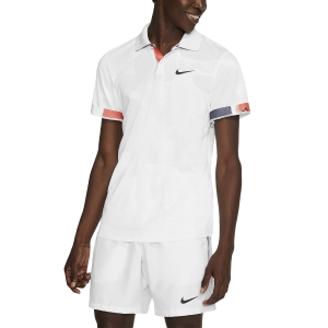 Men's Tennis Polo Nike Court Breathe Advantage Polo  White/Off Noir BV0780100