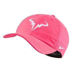 Tennis Hats and Visors Nike Court Rafa Aerobill H86 Cap  Digital Pink/White 850666679