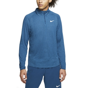 Men's Tennis Shirts and Hoodies Nike Court Challenger Shirt  Valerian Blue/White AA2067432
