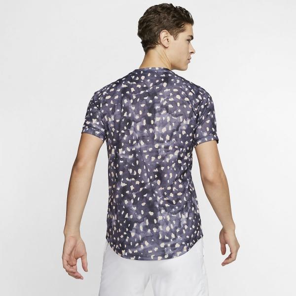 Nike Court Challenger Print T-Shirt - Gridiron/White