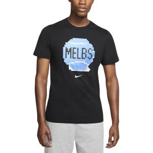 Men's Tennis Shirts Nike Court City TShirt  Black CD2136010