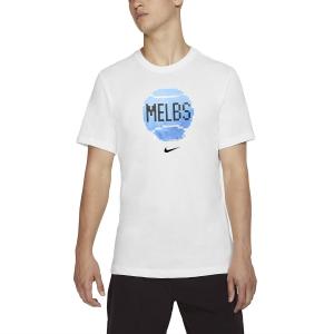 Men's Tennis Shirts Nike Court City TShirt  White CD2136100