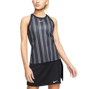Top de Tenis Mujer Nike Court DriFit Printed Top  Black/White CI9314010