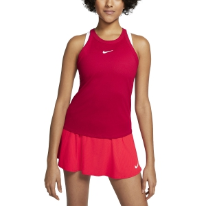 Top de Tenis Mujer Nike Court DriFIT Top  Gym Red/White AT8983688