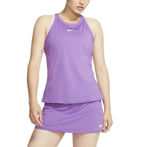 Top de Tenis Mujer Nike Court DriFIT Top  Purple Nebula/White AT8983532