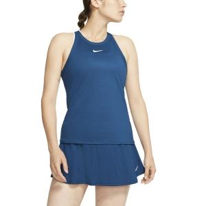 Top de Tenis Mujer Nike Court DriFIT Top  Valerian Blue/White AT8983432