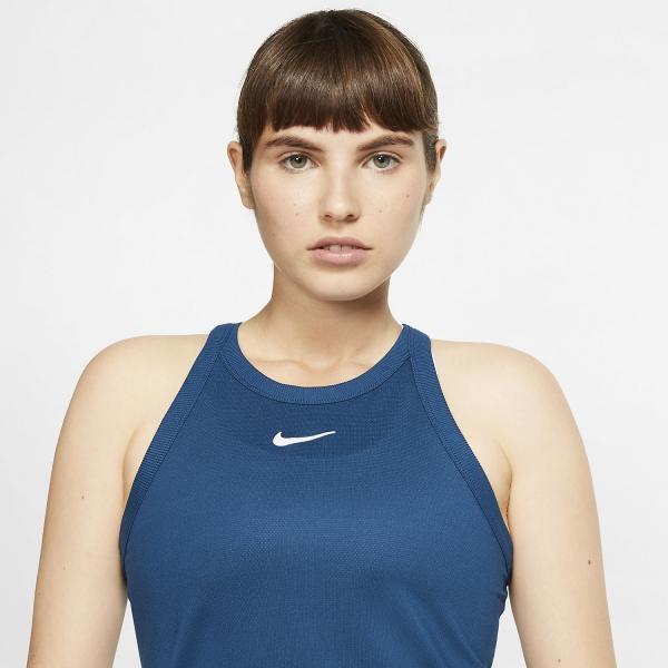 Nike Court Dri-FIT Tank - Valerian Blue/White