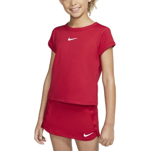 Top y Camisetas Niña Nike Court DriFIT Camiseta Nina  Gym Red/White CQ5386687