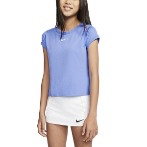 Top and Shirts Girl Nike Court DriFIT TShirt Girl  Royal Pulse/White CQ5386478