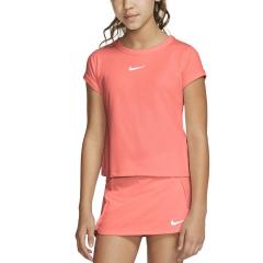 Nike Court Dri-FIT Maglietta Bambina - Sunblush/Whitee