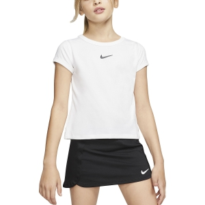 Top y Camisetas Niña Nike Court DriFIT Camiseta Nina  White/Black CQ5386100