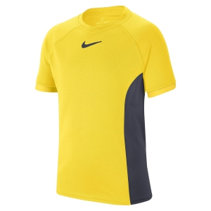 Tennis Polo and Shirts Nike Court DriFIT TShirt Boy  Opti Yellow/Gridiron CD6131731