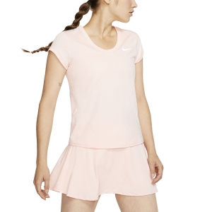 Women`s Tennis T-Shirts and Polos Nike Court DriFIT TShirt  Washed Coral/White CQ5364664
