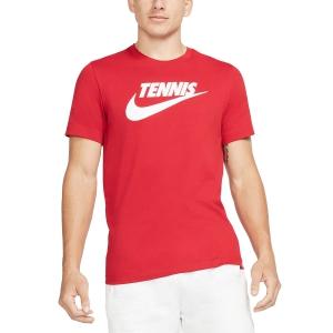 Camisetas de Tenis Hombre Nike Court DriFIT Camiseta  Gym Red/White CJ0429687