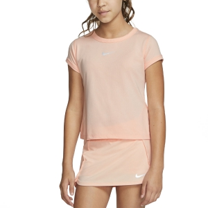 Top and Shirts Girl Nike Court DriFIT TShirt Girl  Washed Coral/White CQ5386664