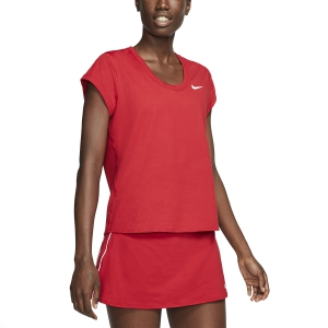 Women`s Tennis T-Shirts and Polos Nike Court DriFIT TShirt  Gym Red/White CQ5364688
