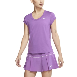 Women`s Tennis T-Shirts and Polos Nike Court DriFIT TShirt  Purple Nebula/White CQ5364532