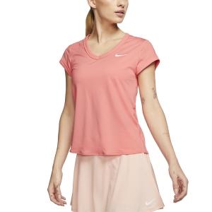 Women`s Tennis T-Shirts and Polos Nike Court DriFIT TShirt  Sunblush/White CQ5364655