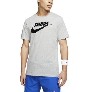 Camisetas de Tenis Hombre Nike Court DriFIT Camiseta  Dark Grey Heather/Black CJ0429066