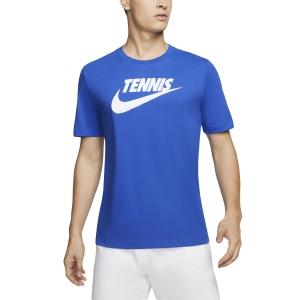 Camisetas de Tenis Hombre Nike Court DriFIT Camiseta  Game Royal/White CJ0429481