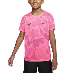 Tennis Polo and Shirts Nike Court DriFIT Rafa TShirt Boy  White/Digital Pink/Vivid Pink/Gridiron CD2165100