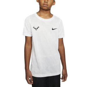 Tennis Polo and Shirts Nike Court DriFIT Rafa TShirt Boy  White/Pure Platinum/Black CD2165102