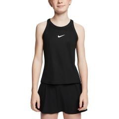 Nike Court Dry Tank Girl - Black/White
