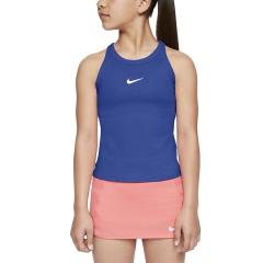 Nike Court Dry Tank Girl - Game Royal/White