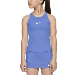 Nike Court Dry Tank Girl - Royal Pulse/White