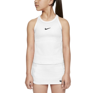 Top y Camisetas Niña Nike Court Dry Top Nina  White/Black CJ0946100