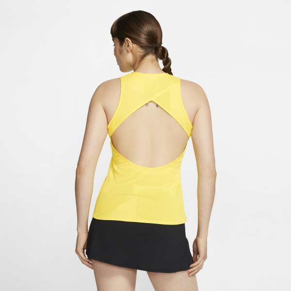 Nike Court Dry Tank - Opti Yellow/Off Noir
