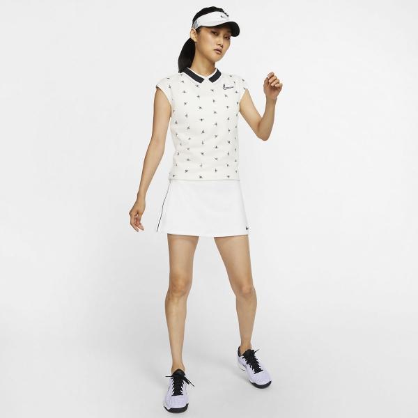 Nike Court Dry Falda - White/Black