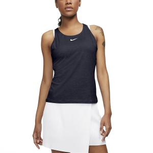Women`s Tennis Tanks Nike Court Dry Logo Tank  Obsidian/White CJ0942451