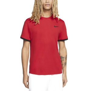 Camisetas de Tenis Hombre Nike Court Dry Camiseta  Gym Red/Black 939134687