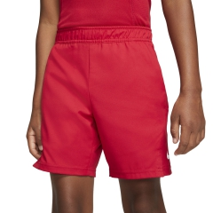 Nike Court Dry 6in Shorts Boy - Gym Red/White