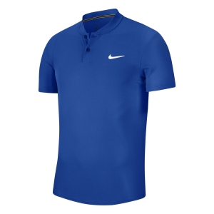 Men's Tennis Polo Nike Court Dry Polo  Game Royal/White AQ7732480