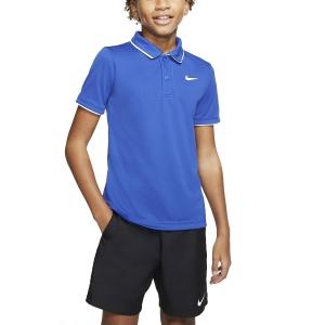 Tennis Polo and Shirts Nike Court Dry Team Polo Boy  Game Royal/White BQ8792480