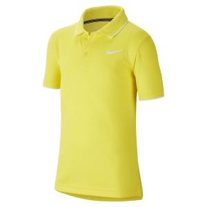 Tennis Polo and Shirts Nike Court Dry Team Polo Boy  Opti Yellow/White BQ8792731