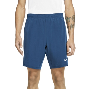 Pantaloncini Tennis Uomo Nike Court Flex Ace 9in Pantaloncini  Valerian Blue/White 887515432