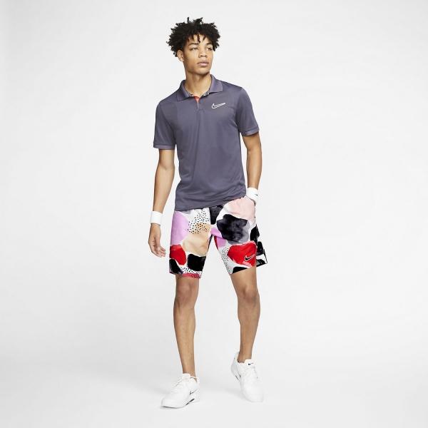 Nike Court Flex Ace Print 9in Shorts - White/Gcw1/Off Noir