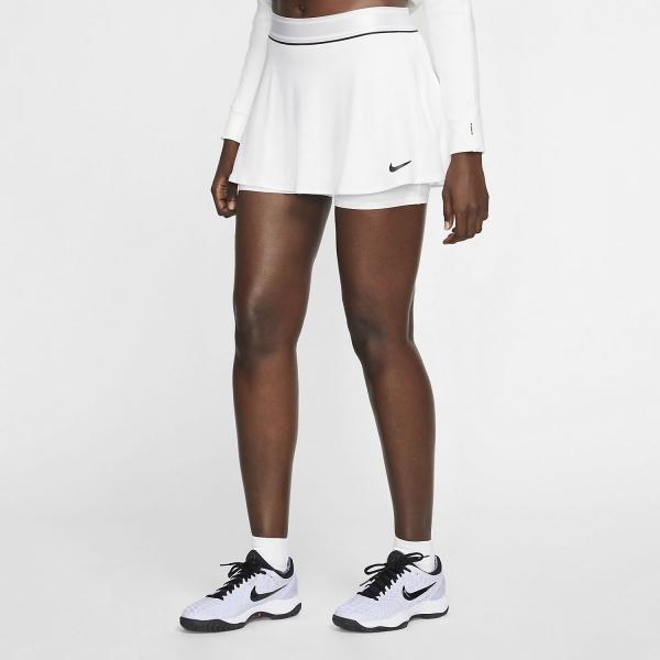 Nike Court Flouncy Falda - White/Black