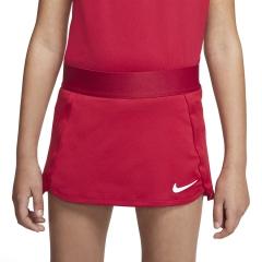 Nike Court Skirt Girl - Gym Red/White