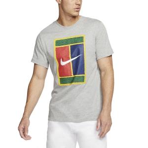 Men's Tennis Shirts Nike Court Heritage TShirt  Dark Grey Heather BV7010063