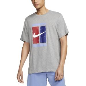 Men's Tennis Shirts Nike Court Logo TShirt  Dark Grey Heather CU0329063