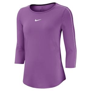 Women's Tennis Shirts and Hoodies Nike Court Shirt  Purple Nebula/White AQ7658532